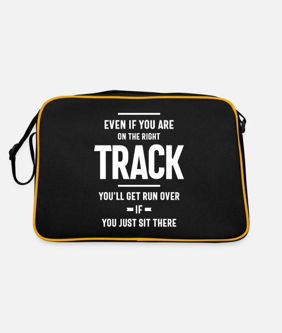 Quote Bags & Backpacks - Motivational Quote - Retro Bag black/gold