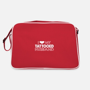 Hodetelefoner i love my tattoed husband - Retro Bag