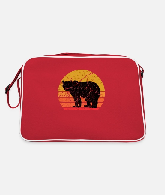 Nature Bags & Backpacks - Retro Sun Bear Animal Gift - Retro Bag red/white