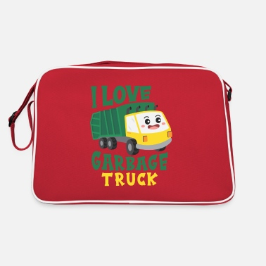 Recycling Cool garbage truck boy child toddler - Retro Bag