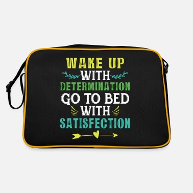 Bed With Satisfaction Motivation motivational gift gift idea - Retro Bag