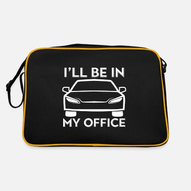 Cracker Car enthusiast I'll be in my office Raci - Retro Bag