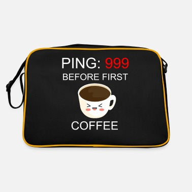 Coffee I Gamer I Ping 999 beforde first coffee - Retro Bag