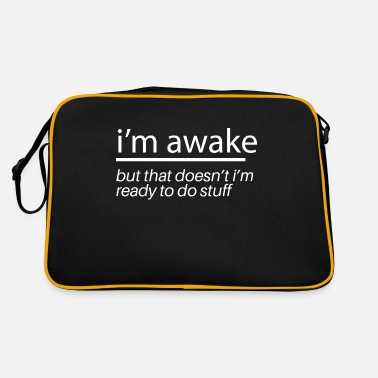 Illustrate Im Awake - Retro Bag