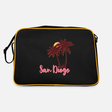 San Diego Palms Beach Sunset - Retro Bag