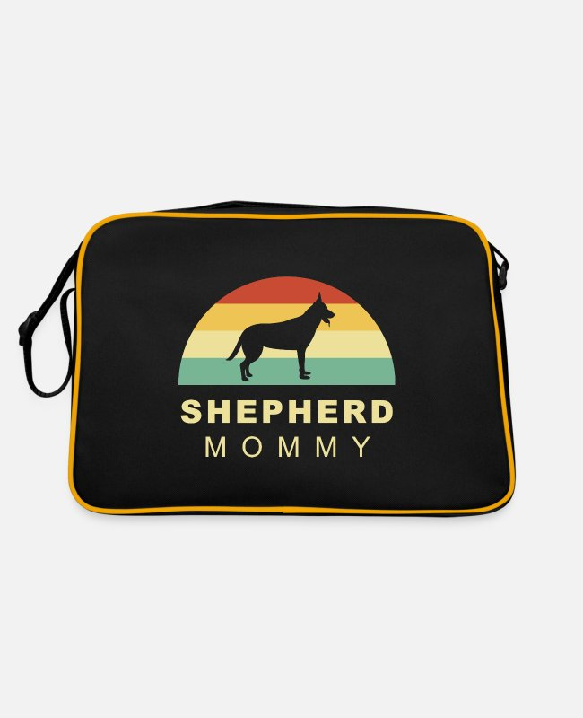Male Puppy Dog Puppy Bags & Backpacks - Cool retro vintage german shepherd dog mom - Retro Bag black/gold