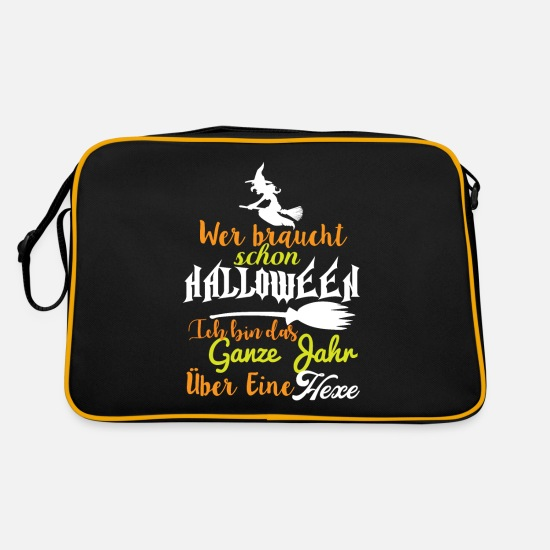 Witches Broom Bags & Backpacks - I'm a witch - Retro Bag black/gold