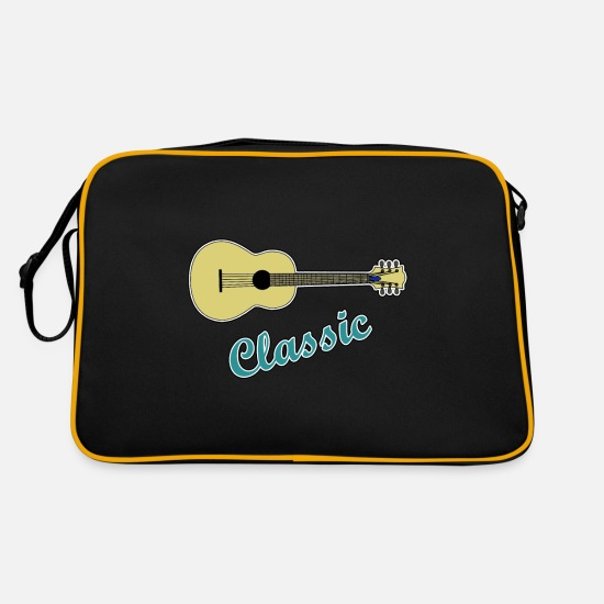 Guitar Bags & Backpacks - Guitar Classic - Guitar Guitarist Guitar Electric Guitar - Retro Bag black/gold