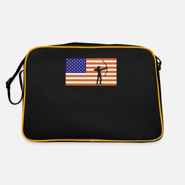 Usa Archer American Flag - Archery Gift - Retrotasche
