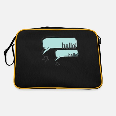 Hello Hello Hello hello greeting - Retro Bag