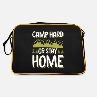 Travel Bug Camping saying humor funny - Retro Bag