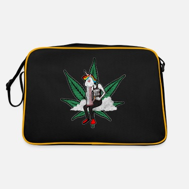 Leaf Cannabis - Canopy / Einhorn - Unicorn - Retrotasche