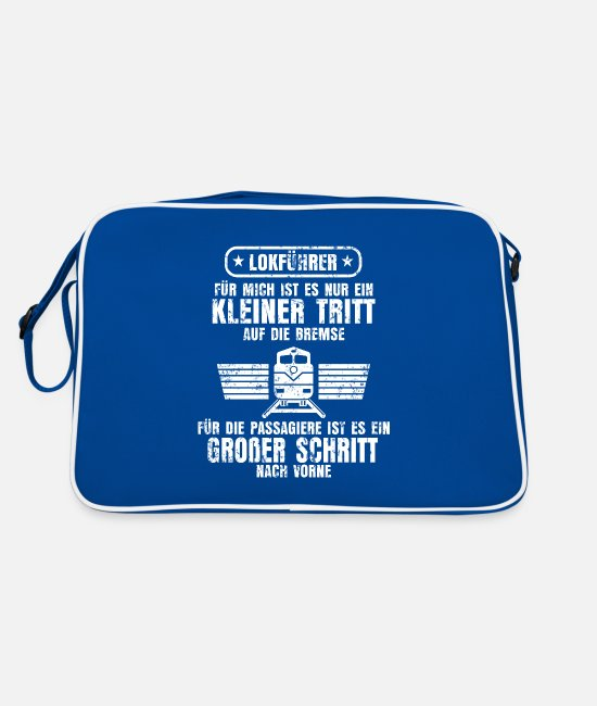 Training Bags & Backpacks - Train train driver - Retro Bag blue/white