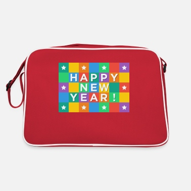 New Year's Day New Years Eve, New Year, New Year's Day, gift - Retro Bag