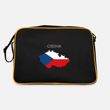 Tea Czech Republic flag - art design - Retro Bag