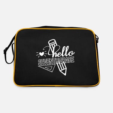 2020 Back to School Hello 7th Grade School - Retro Bag
