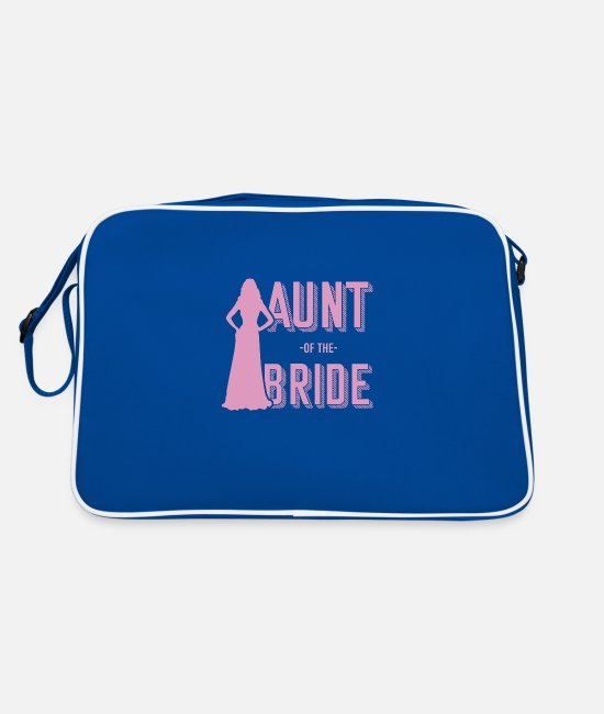 Wedding Planner Bags & Backpacks - Aunt of the bride - Retro Bag blue/white