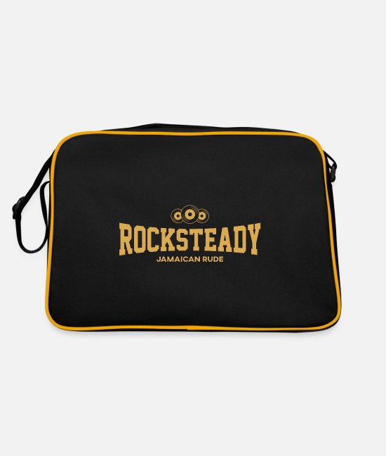 Rock Bags & Backpacks - rocksteady jamaican rude - Retro Bag black/gold