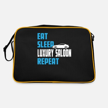 Vehicle Eat. Sleep. Luxury Saloon. Repeat. - Retro Bag