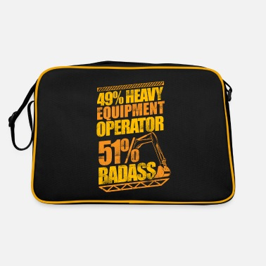 Gas Badass Heavy Equipment Operator Construction - Retro Bag