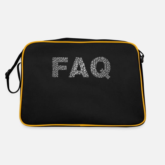 Gift Idea Bags & Backpacks - Information FAQ - Retro Bag black/gold