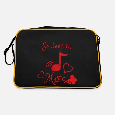 so deep in Music - Violine - herz - Retrotasche