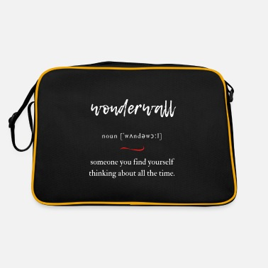 Liam Gallagher Wonderwall (protective wall) Convoluted Edition Black - Retro Bag