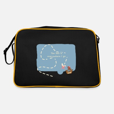 Skipper Funny saying sailing sailor skipper gift - Retro Bag