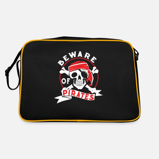 Gift Idea Bags & Backpacks - Pirate buccaneers guys gift idea - Retro Bag black/gold