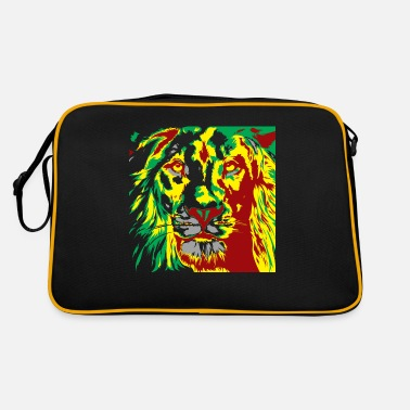 Rasta Rasta Lion - Red Gold Green - Retro Bag