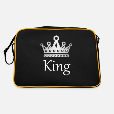 Brilliant Crown Crowns King Queen JGA Wedding Bride - Retro Bag