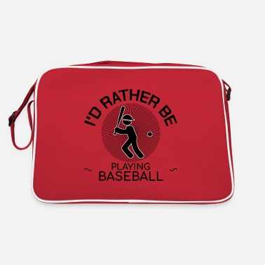 Batball baseball game playing field coach baseball - Retro Bag