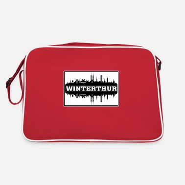 Silhouette Winterthur Switzerland Travel Souvenir Skyline Sil - Retro Bag