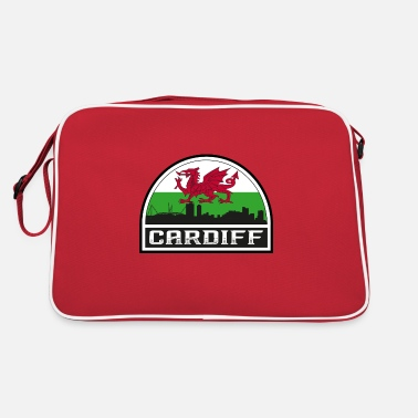 Big Love Cardiff Wales Skyline Silhouette Welsh Flag Travel - Retro Bag