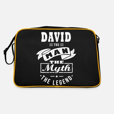 Name Day DAVID the man, the myth legend personalized gift - Retro Bag