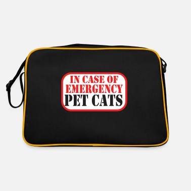 In Case Of Emergency Pet Cats Spruch - Retrotasche