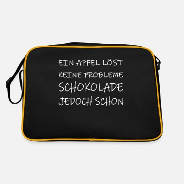 An apple does not solve any problems - chocolate already! - Retro Bag