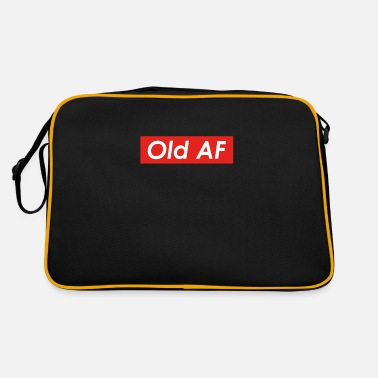 Over The Hill Old AF Over the Hill Gag Gift design - Retro Bag