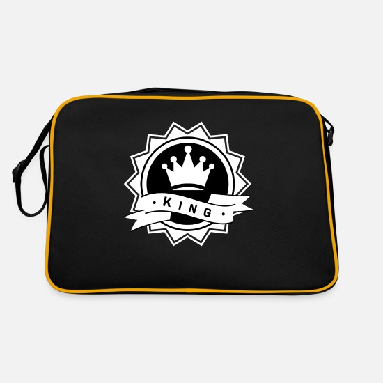 Love Bags & Backpacks - King & Queen - KING - Retro Bag black/gold