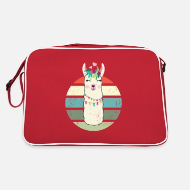 Cute Kawaii Llama Retro cute Alpaca Gift - Retro Bag