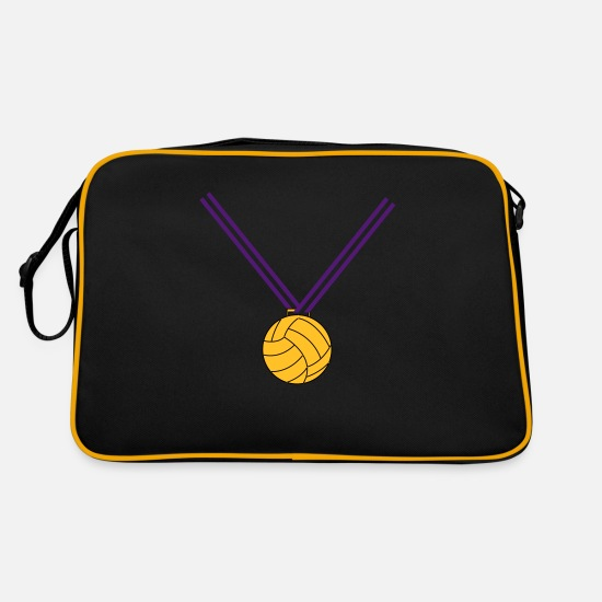 Gold Bags & Backpacks - Beach volleyball gold medal - Retro Bag black/gold