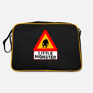 Funny Road Sign Little monster road sign - Retro Bag