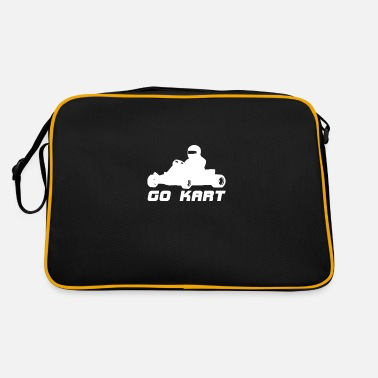 Motor Race Go Kart motif - Retro Bag