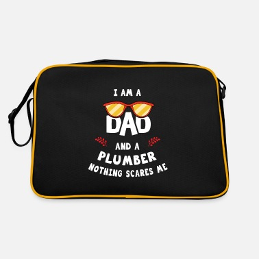 Mustache I'm A Dad And A Plumber Nothing Scares Me - Retro Bag