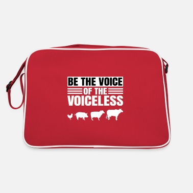 Vegetarian Be the voice of the voiceless - Retro Bag