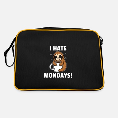 I Hate You I Hate Mondays - I Hate Mondays Tired Sloth - Retro Bag