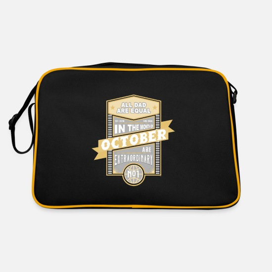 Birthday Bags & Backpacks - All Dad Are Equal September Birthday Dad Dad - Retro Bag black/gold