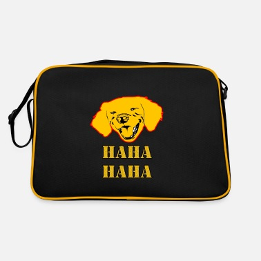 Haha Haha Haha Dog ... Haha Haha dog - Retro Bag