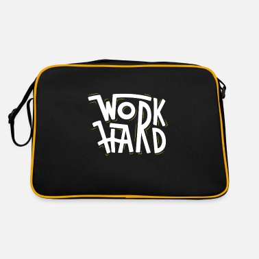 Working Hard Work Hard - Retro Bag