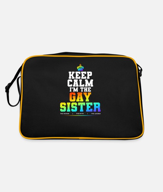 Marriage Equality Bags & Backpacks - Gay sister - Retro Bag black/gold